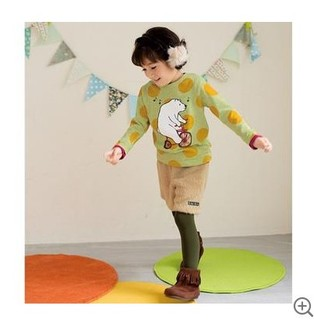 Skipland 斯克莱 女童字母印花长袖T恤