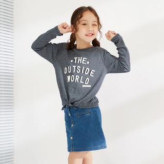 MAXWIN 马威 中大童针织长袖T恤