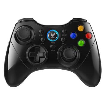 雷柏(Rapoo) V600S 无线振动游戏手柄 手机手柄 安卓/电脑/智能电视/PS3适用 黑色