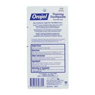 Orajel 欧乐 托马斯无氟可吞咽牙膏