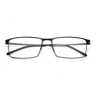 HAN 金属光学眼镜架 HN49221 + 依视路1.552非球面钻晶A3树脂镜片