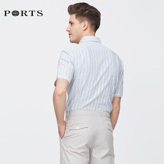 PORTS 宝姿 MC8B224SFD008 男士短袖衬衫 S