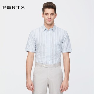 PORTS 宝姿 MC8B224SFD008 男士短袖衬衫 L