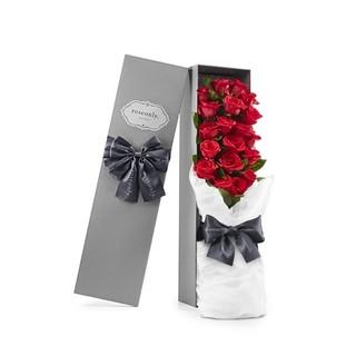 明星同款、七夕预售 : Roseonly 经典永续 朱砂玫瑰花 19朵