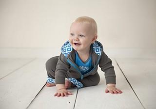 Yoga Sprout 美国熊宝宝 男婴外套哈衣长裤套装