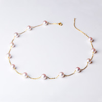 QianXing 千星珠宝 18k金淡水珍珠项链  40cm 15颗珍珠