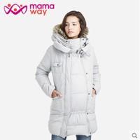 mamaway 妈妈喂 亲子两用长版羽绒外套