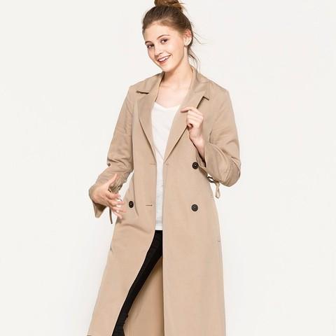 秋季焕新:ESPRIT 077EO1G002 女士风衣外套