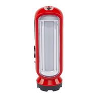 金莱特(KENNEDE)LED充电式多功能应急灯+手电筒 露营灯 户外照明1W+10*0.5W KN-4110红色 *5件