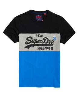Superdry 极度干燥 男士复古Logo印花T恤