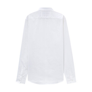 MECITY男棉麻混纺透气舒适纯色修身绅士长袖衬衫 524402 蓝色组 175/96A