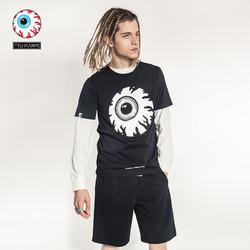 MishkaNYC 2018夏季新款情侣T恤mishka大眼球印花薄短袖个性潮牌