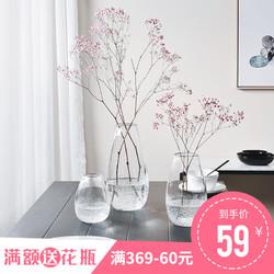 花瓶北欧餐桌摆件 玻璃花瓶 创意ins抖音家居同款摆件 文艺小清新