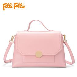 轻奢时尚靓丽糖果色中型女士单肩手提包HB17P012 FolliFollie芙丽