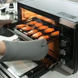 双层夹棉硅胶隔热手套