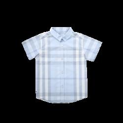 网易严选 儿童格短袖衬衫