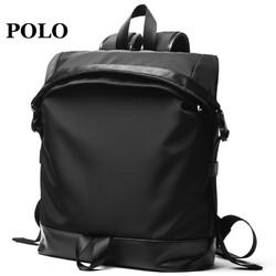 Polo双肩包男2018新款背包男电脑包男休闲简约潮流男包双肩旅行包
