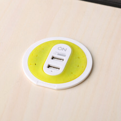 ON 手机充电器 智能办公桌面电源适配器 创意出差旅行充电头 3.1A快充2口USB 线长1.8米