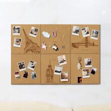 精耐特 照片墙图钉板软木墙记事宣传留言板  建筑3件套+3原色