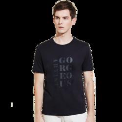 男式字母胶印T恤