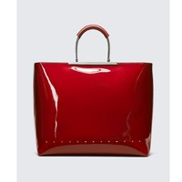 ALEXANDER WANG PATENT DIME TOTE - RED 女士手拎包