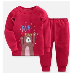 gb 好孩子 儿童加绒保暖内衣套装