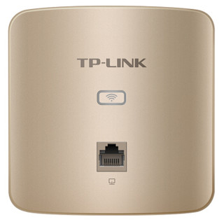 TP-LINK TL-AP450I-PoE薄款香槟金 450M无线86型面板式AP 企业级酒店别墅wifi接入 POE供电 AC管理