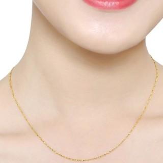 六福珠宝 B01TBGN0009 满天星足金项链 3.12g *2件