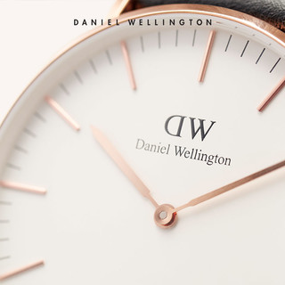 Daniel Wellington 丹尼尔惠灵顿 DW手表 36mm红色织纹带女表