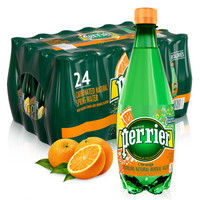 perrier 巴黎水 气泡矿泉水 橘子味 500ml*24瓶