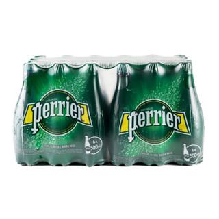 perrier 巴黎水 天然含气矿泉水 原味 500ml*24瓶