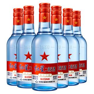 红星 二锅头 蓝瓶 绵柔8陈酿 清香型白酒 53度 250ml*6瓶 整箱装