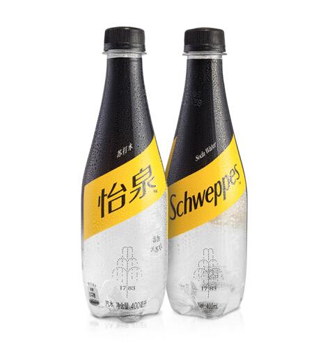 怡泉 Schweppes 无糖零卡 苏打水 汽水饮料400ml*12瓶 整箱装 可口可乐公司出品 新老包装随机发货 *7件