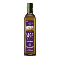 京东PLUS会员:AGRIC 阿格利司 冷榨亚麻籽油 瓶装 500ml *5件