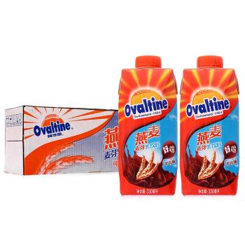 Ovaltine 阿华田 燕麦 麦芽乳饮料 可可口味 330ml*12盒 整箱