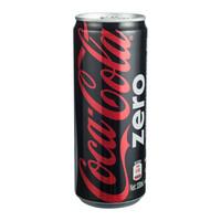 可口可乐 零度 无糖零卡 汽水 碳酸饮料 330ml*24罐 整箱 可口可乐公司出品 新老包装随机发货