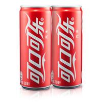 可口可乐 Coca-Cola 汽水 碳酸饮料 330ml*24罐 整箱装 可口可乐公司出品 摩登罐 新老包装随机发货 *2件