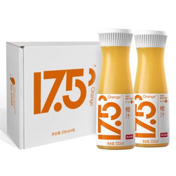 农夫山泉17.5°NFC鲜橙汁 100%果汁 礼盒装330ml*4瓶 *4件