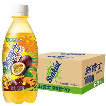 Watsons 屈臣氏 新奇士 百香果汁汽水 380ml*15瓶 整箱装
