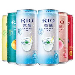 RIO 锐澳 预调鸡尾酒 微醺系列 3度 330ml*6罐 *2件