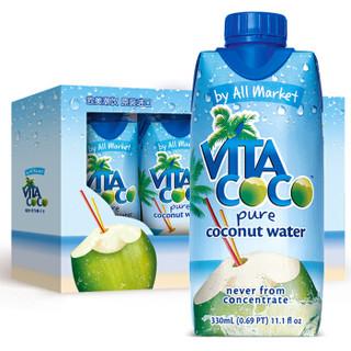 VITA COCO 唯他可可 天然椰子水 330ml*4瓶
