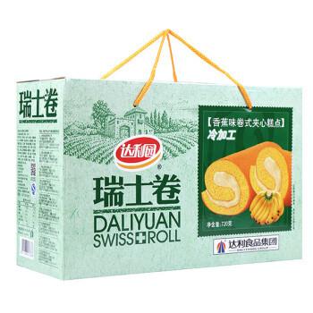 京东PLUS会员:达利园 瑞士卷 香蕉味 720g
