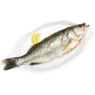 海名威 冷冻鲜蒸三去海鲈鱼 450g
