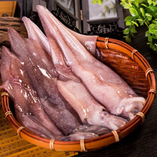 獐子岛 冷冻鱿鱼 (500g,4-6条)