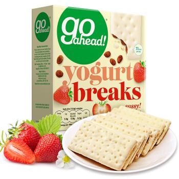 go ahead! 酸奶涂层水果夹心饼干 草莓味 178g