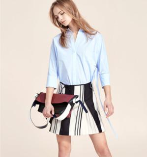 Lily 117210C6107 女士条纹A字裙