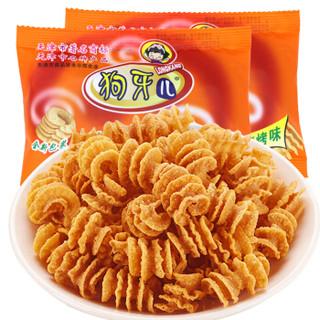 狗牙儿 休闲零食 比萨卷锅巴烧烤味怀旧零食750g(25g*30袋)