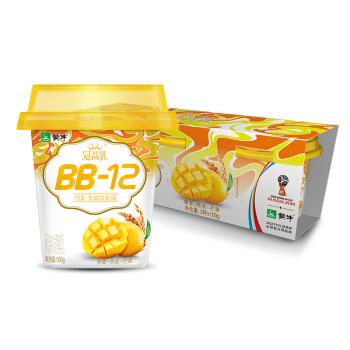 蒙牛  冠益乳BB-12麦酪乳 藜麦+燕麦+芒果 100g*3杯