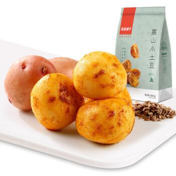 良品铺子小土豆 马铃薯 儿时美食特产 烧烤味零食小吃休闲食品205g *3件