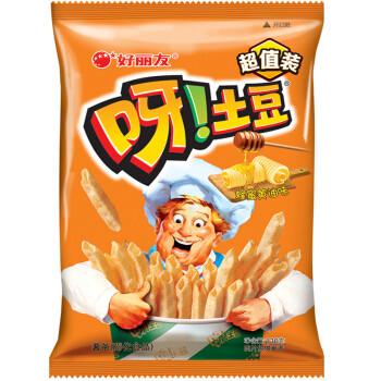 Orion 好丽友 休闲零食 膨化薯条薯片 呀!土豆蜂蜜黄油味130g/袋(新老包装随机发放) *2件